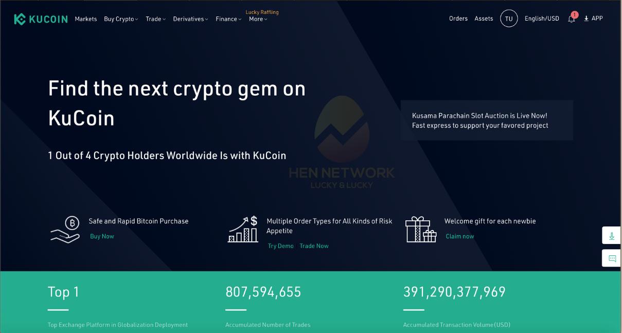 Đầu tư tiền số: sàn giao dịch Kucoin